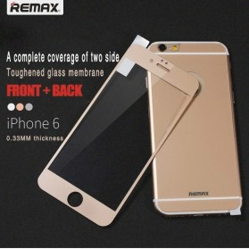 REMAX Front + Back Comprehensive Tempered Glass for iPhone 6/6s - Golden