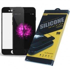 REMAX Silicone Royal Tempered Glass 0.2mm for iPhone 6s - Black