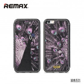 Remax Beast Series Flip Cover Case for iPhone 6s Plus - Black/Purple