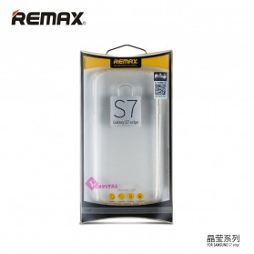 Remax Crystal Series TPU Protective Soft Case for Samsung Galaxy S7 - Transparent - 4