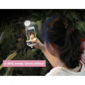Remax Twilight Selfie Spotlight Flash Nine Brightness - ML-01 - Pink - 4
