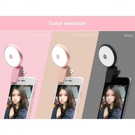 Remax Twilight Selfie Spotlight Flash Nine Brightness - ML-01 - Pink - 7