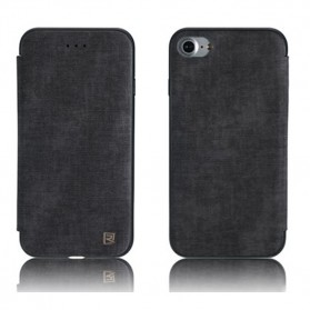 Remax Winter Series Leather Flip Case for iPhone 7 Plus - Black
