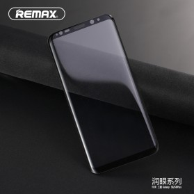 REMAX Crystal Glass 3D 9H Tempered Glass With TPU Case for Samsung Galaxy S8 - Black