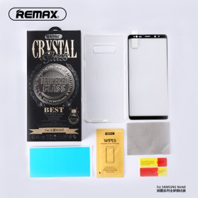 REMAX GL-08 Crystal 3D 9H Tempered Glass for Samsung Galaxy Note 8 - Black - 2