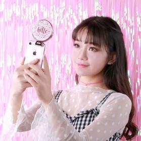 Remax Mirror Selfie Ring Light - ML-03 - Pink - 3