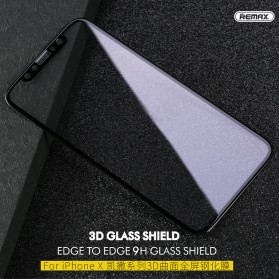 Remax GL-04 Caesar Tempered Glass 3D for iPhone X/XS - Black - 2