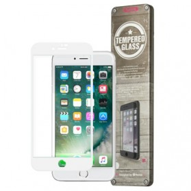 Remax GL-08 Tempered Glass 3D Curved with TPU Case for iPhone 7/8 - White