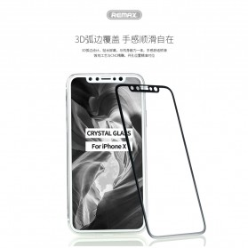 REMAX GL-08 Tempered Glass for iPhone X/XS - Black - 5