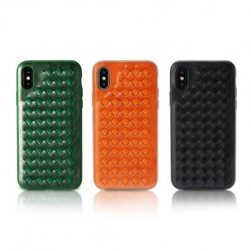 Remax Weave Series Hardcase for iPhone X - Black - 2
