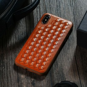 Remax Weave Series Hardcase for iPhone X - Black - 4