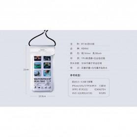 Remax Waterproof Bag 30 Meter for Smartphone 6 Inch - RT-W3 - Black - 8