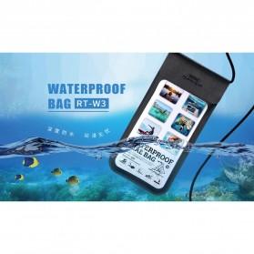 Remax Waterproof Bag 30 Meter for Smartphone 6 Inch - RT-W3 - Black - 9