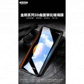 REMAX WK KingKong Series 3D Full Cover Tempered Glass for iPhone X - Black - 3
