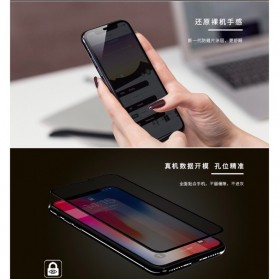 REMAX Emperor Anti-Privacy 3D Full Cover Tempered Glass for iPhone XS Max - GL-35 - Black - 2