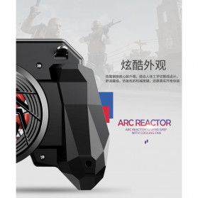 Remax Proda ARC Reactor Gamepad Grip Trigger Aim L1 R1 PUBG with Fan - PD-D04 - Black - 4