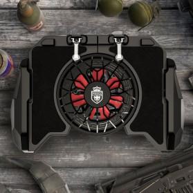 Remax Proda ARC Reactor Gamepad Grip Trigger Aim L1 R1 PUBG with Fan - PD-D04 - Black - 6