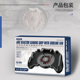 Remax Proda ARC Reactor Gamepad Grip Trigger Aim L1 R1 PUBG with Fan - PD-D04 - Black - 8