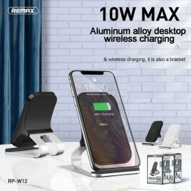 Remax Qi Wireless Charging Dock Fast Charger 10W - RP-W12 - Black