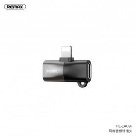 Remax Converter Lightning Audio Splitter to 2xLightning - RL-LA09i - Black
