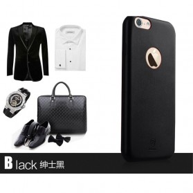 Baseus Boke Series Ultra-Thin TPU Leather Case for iPhone 6 Plus - Black