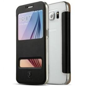 Baseus Yuanse Series Window Case for Samsung Galaxy S6 - Black