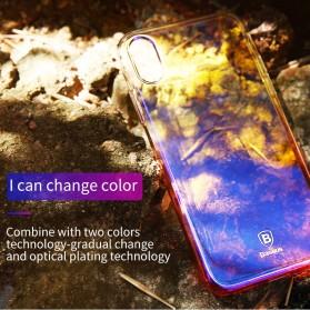 Baseus Glaze Hardcase for iPhone X - Purple - 3