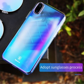 Baseus Glaze Hardcase for iPhone X - Purple - 4