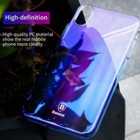 Baseus Glaze Hardcase for iPhone X - Purple - 5
