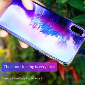 Baseus Glaze Hardcase for iPhone X - Purple - 6
