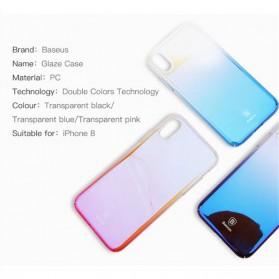 Baseus Glaze Hardcase for iPhone X - Purple - 7