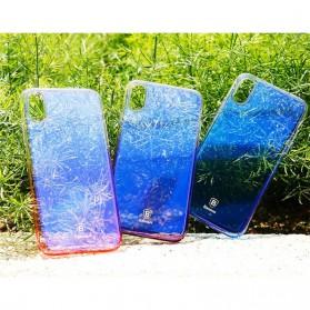 Baseus Glaze Hardcase for iPhone X - Purple - 8