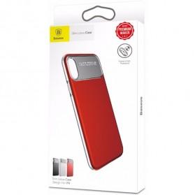 Baseus Slim Lotus Series Hardcase for iPhone X - Red - 5