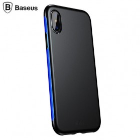 Baseus Bumper Hardcase for iPhone X - Black Blue