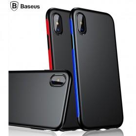 Baseus Bumper Hardcase for iPhone X - Black Blue - 2