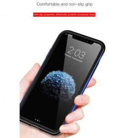 Baseus Bumper Hardcase for iPhone X - Black Blue - 4