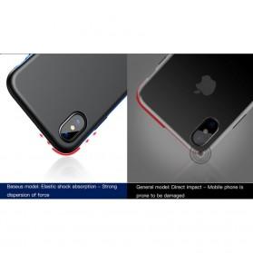 Baseus Bumper Hardcase for iPhone X - Black Blue - 5