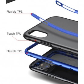 Baseus Bumper Hardcase for iPhone X - Black Blue - 6