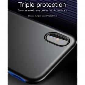 Baseus Bumper Hardcase for iPhone X - Black Blue - 7