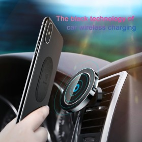Baseus Magnetic Qi Wireless Car Charger - WXER-01 - Black - 2