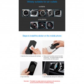 Baseus Magnetic Qi Wireless Car Charger - WXER-01 - Black - 8