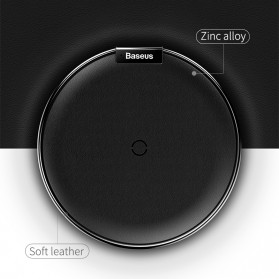 Baseus Leather Qi Wireless Charger - WXIX-01 - Black - 5