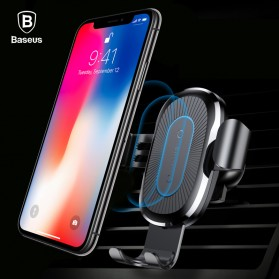 Baseus Car Holder Qi Wireless Charger - Black
