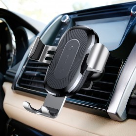Baseus Car Holder Qi Wireless Charger - Black - 7