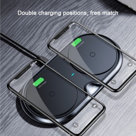 Baseus Two Seater Qi Wireless Charging Dock 10W - WXXHJ-A01 - Black