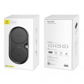 Baseus Two Seater Qi Wireless Charging Dock 10W - WXXHJ-A01 - Black - 10