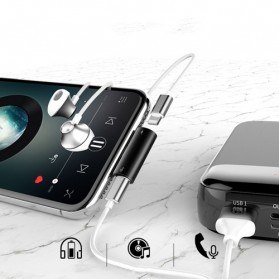 Baseus Converter Lightning Audio Splitter for iPhone 7/8/X/XS/XR - CAL46-01 - Black - 3