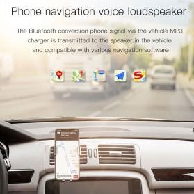 Baseus 2 in 1 Smart Car Bluetooth Audio Transmitter + USB Charging - S-09T - Black - 2