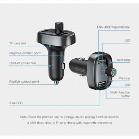 Baseus 2 in 1 Smart Car Bluetooth Audio Transmitter + USB Charging - S-09T - Black - 5