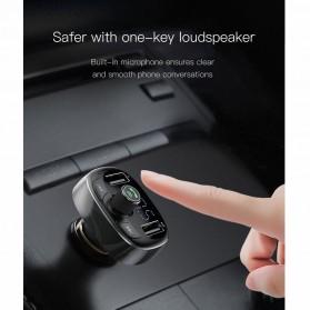 Baseus 2 in 1 Smart Car Bluetooth Audio Transmitter + USB Charging - S-09T - Black - 9
